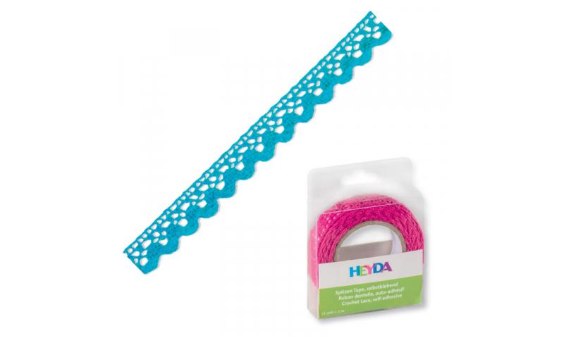 Heyda Lace Tape,  15mm x 2M in Dispenser - Aqua