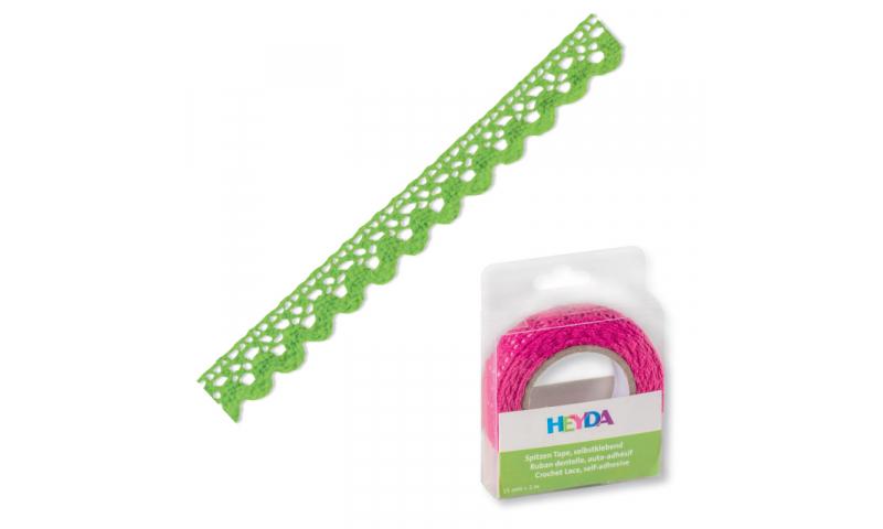 Heyda Lace Tape,  15mm x 2M in Dispenser - Grass Green