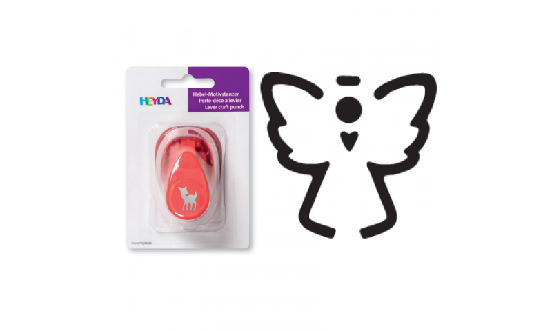 Heyda Lever Craft Punches, Xmas Small-Angel Outline