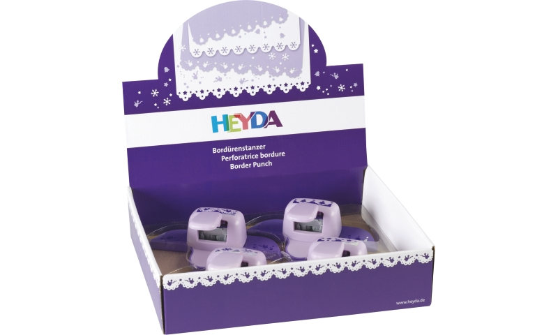 Heyda Lever Craft Border Punches, Display 4 assorted Xmas designs