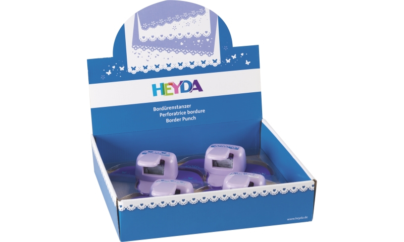 Heyda lever Craft Border Punches, Display 4 assorted Spring designs