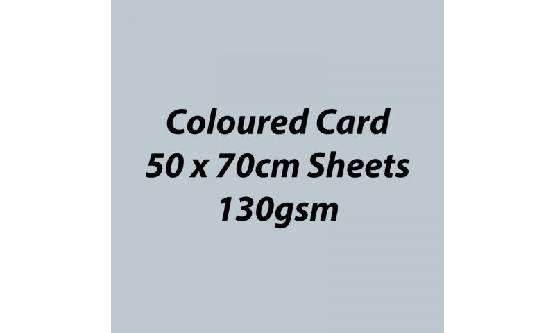 Heyda 100% Recycled Coloured Card  50x70mm 130 gsm barcoded 30 sh-Glossy Silver