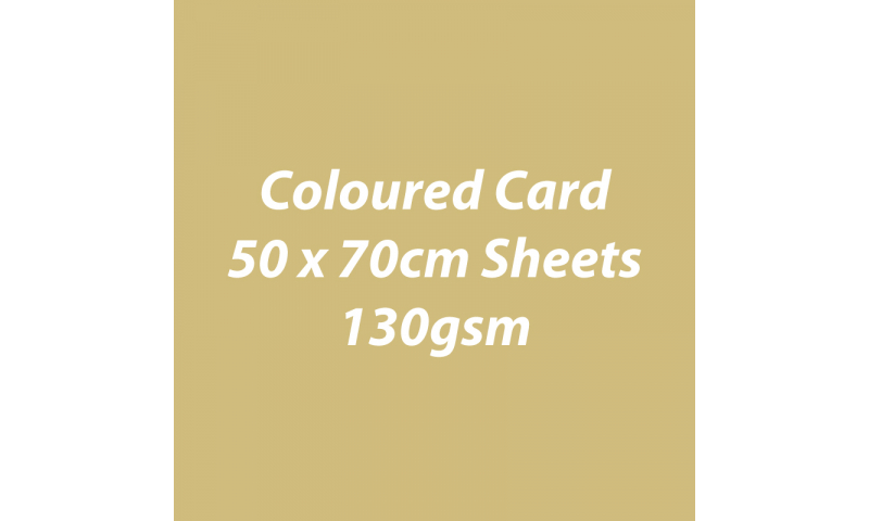 Heyda 100% Recycled Coloured Card  50x70mm 130 gsm barcoded 30 sh-Matt Gold