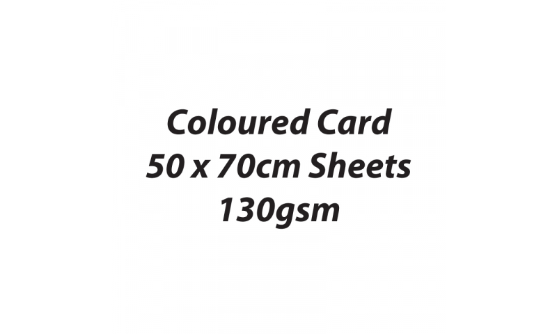 Heyda 100% Recycled Coloured Card  50x70mm  130 gsm barcoded 30 s-White
