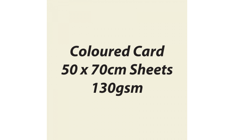 Heyda 100% Recycled Coloured Card  50x70mm  130 gsm barcoded 30 sh-Cream