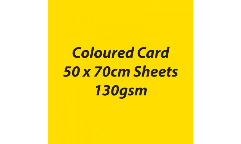 Heyda 100% Recycled Coloured Card  50x70mm 130 gsm barcoded 30 sh-Yellow