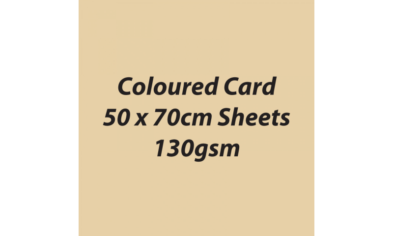 Heyda 100% Recycled Coloured Card  50x70mm 130 gsm barcoded 30 sh-Chamois