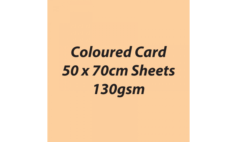 Heyda 100% Recycled Coloured Card  50x70mm 130 gsm barcoded 30 sh-Beige