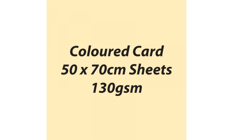 Heyda 100% Recycled Coloured Card  50x70mm 130 gsm barcoded 30 sh-Vanilla