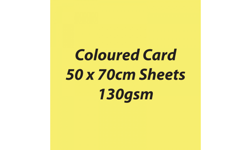 Heyda 100% Recycled Coloured Card  50x70mm 130 gsm barcoded 30 sh-Lemon