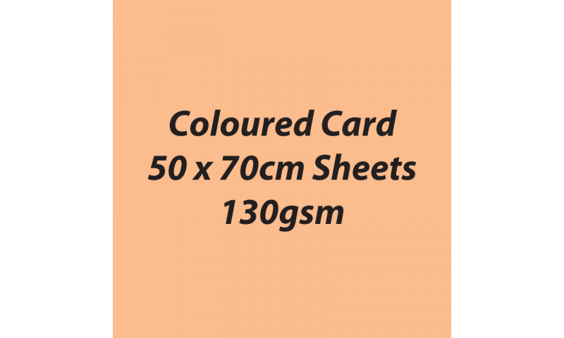 Heyda 100% Recycled Coloured Card  50x70mm 130 gsm barcoded 30 sh-Apricot