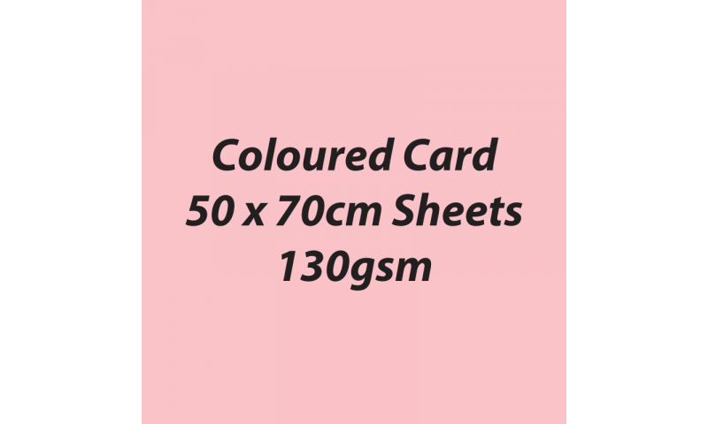 Heyda 100% Recycled Coloured Card  50x70mm 130 gsm barcoded 30 sh-Light Rose