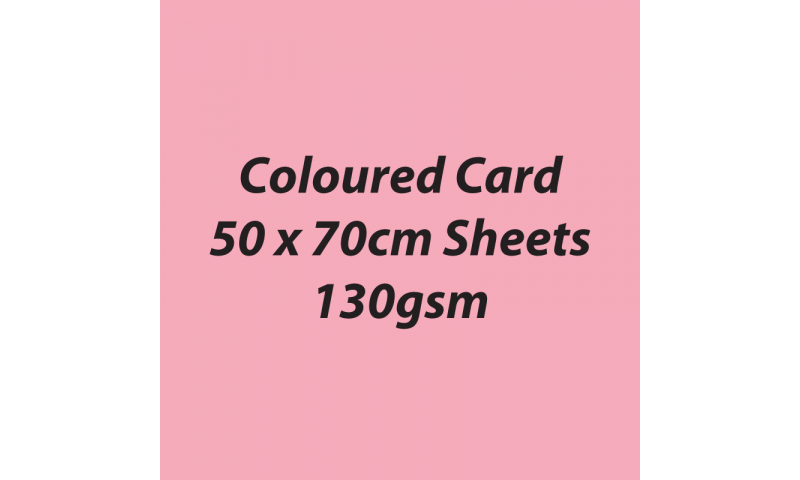 Heyda 100% Recycled Coloured Card  50x70mm 130 gsm barcoded 30 sh-Rose