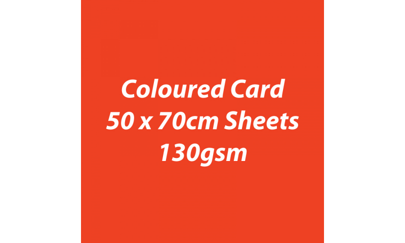 Heyda 100% Recycled Coloured Card  50x70mm 130 gsm barcoded 30 sh-Light Red