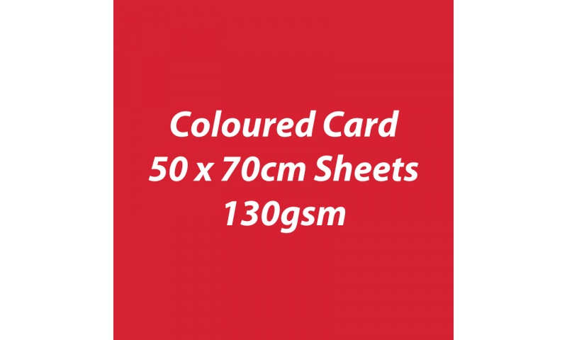 Heyda 100% Recycled Coloured Card  50x70mm 130 gsm barcoded 30 sh-Red