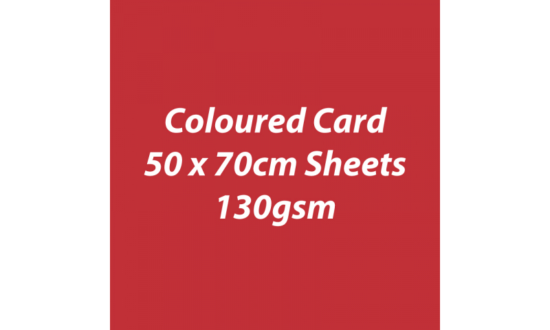 Heyda 100% Recycled Coloured Card  50x70mm 130 gsm barcoded 30 sh-Poppy Red