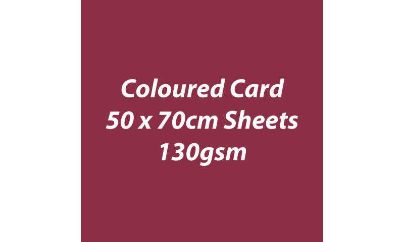 Heyda 100% Recycled Coloured Card  50x70mm 130 gsm barcoded 30 sh-Bordeaux
