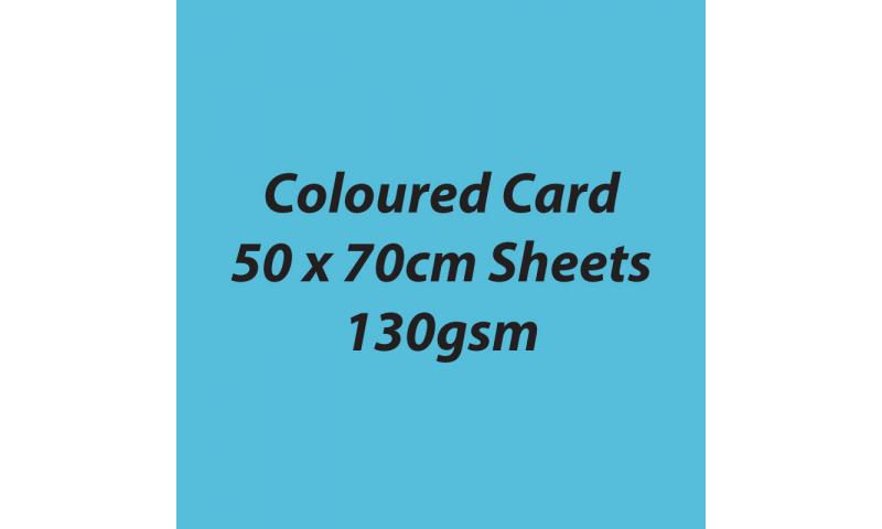 Heyda 100% Recycled Coloured Card  50x70mm 130 gsm barcoded 30 sh-Aqua