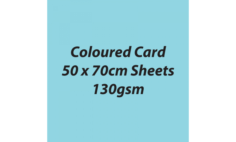 Heyda 100% Recycled Coloured Card  50x70mm 130 gsm barcoded 30 sh-Light Blue