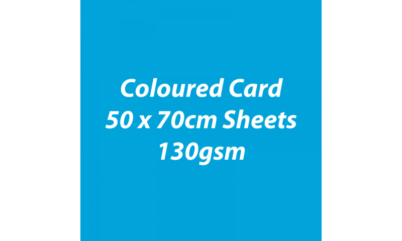 Heyda 100% Recycled Coloured Card  50x70mm 130 gsm barcoded 30 sh-Sky Blue