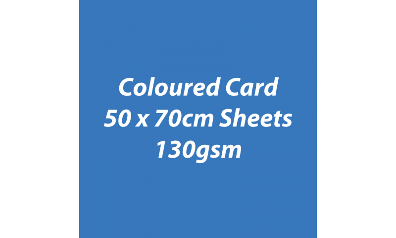 Heyda 100% Recycled Coloured Card  50x70mm 130 gsm barcoded 30 sh- Blue