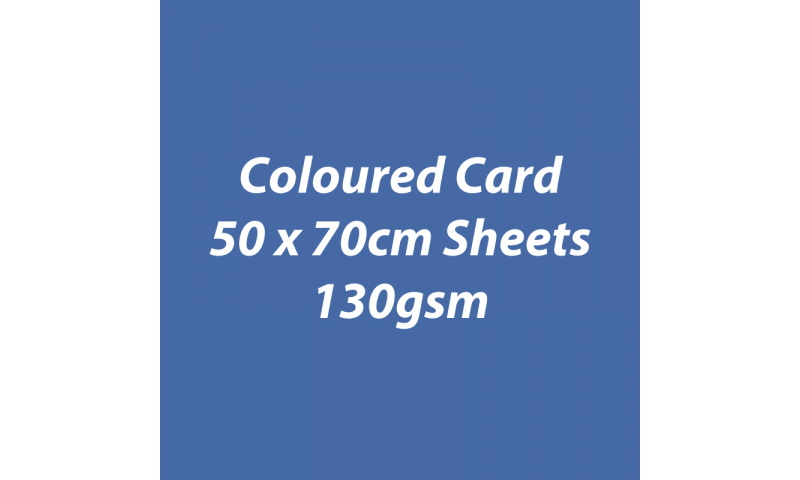 Heyda 100% Recycled Coloured Card  50x70mm 130 gsm barcoded 30 sh-Dark Blue