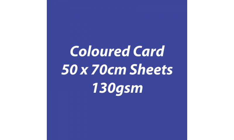 Heyda 100% Recycled Coloured Card  50x70mm 130 gsm barcoded 30 sh-Royal Blue