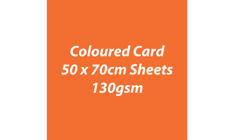 Heyda 100% Recycled Coloured Card  50x70mm 130 gsm barcoded 30 sh-Orange