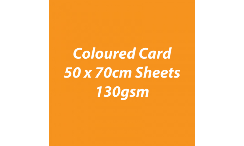 Heyda 100% Recycled Coloured Card  50x70mm 130 gsm barcoded 30 sh-Pumpkin
