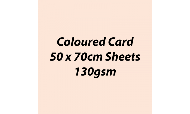 Heyda 100% Recycled Coloured Card  50x70mm 130 gsm barcoded 30 sh-Flesh