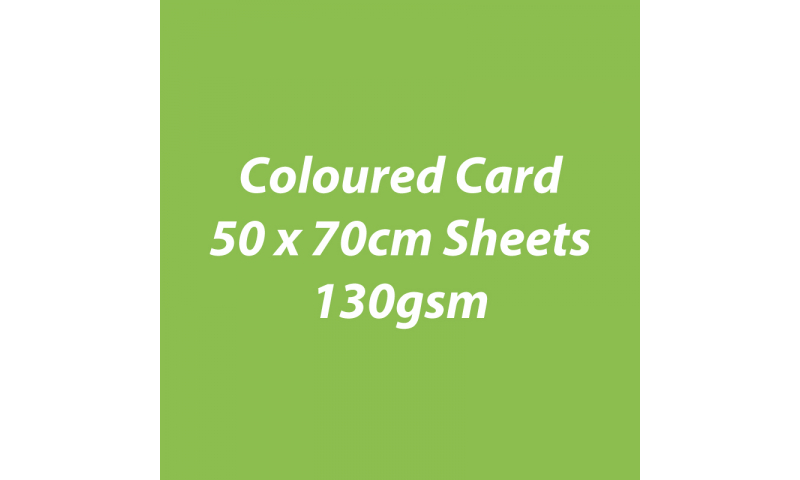 Heyda 100% Recycled Coloured Card  50x70mm 130 gsm barcoded 30 sh-Lime