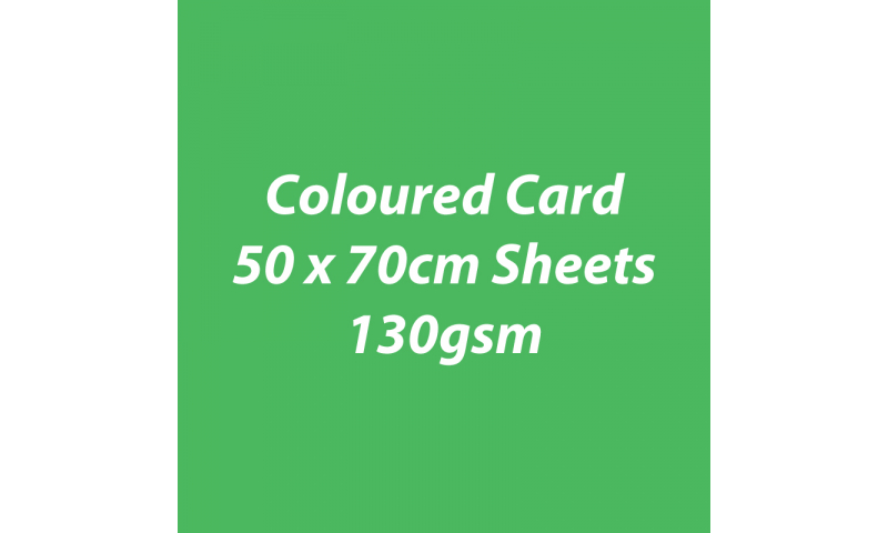 Heyda 100% Recycled Coloured Card  50x70mm 130 gsm barcoded 30 sh-Green