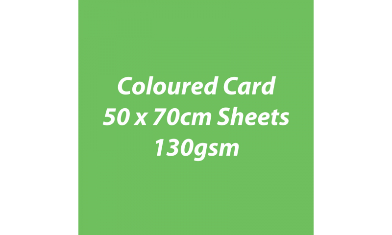 Heyda 100% Recycled Coloured Card  50x70mm 130 gsm barcoded 30 sh-Grass Green