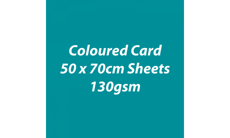 Heyda 100% Recycled Coloured Card  50x70mm 130 gsm barcoded 30 sh-Tourquoise