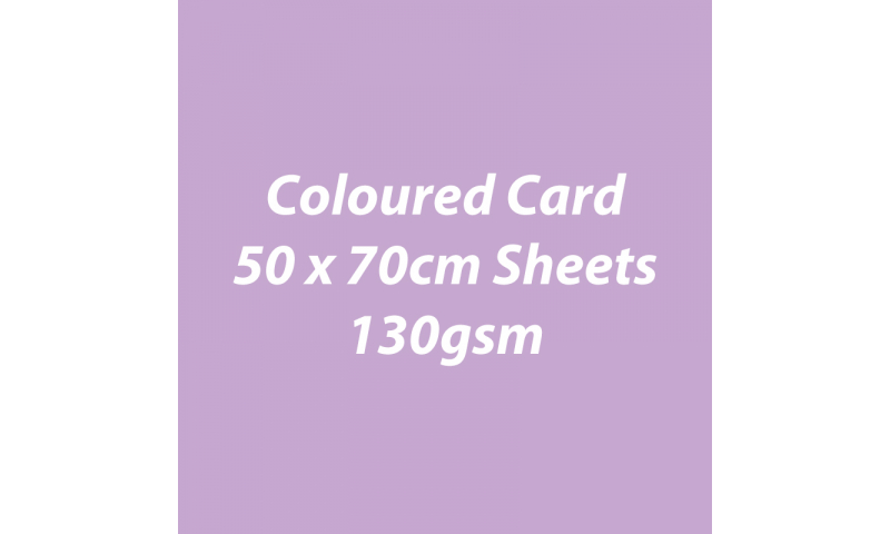 Heyda 100% Recycled Coloured Card  50x70mm 130 gsm barcoded 30 sh-Light Violet