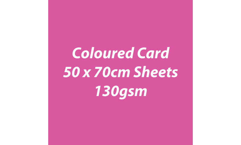 Heyda 100% Recycled Coloured Card  50x70mm 130 gsm barcoded 30 sh-Pink
