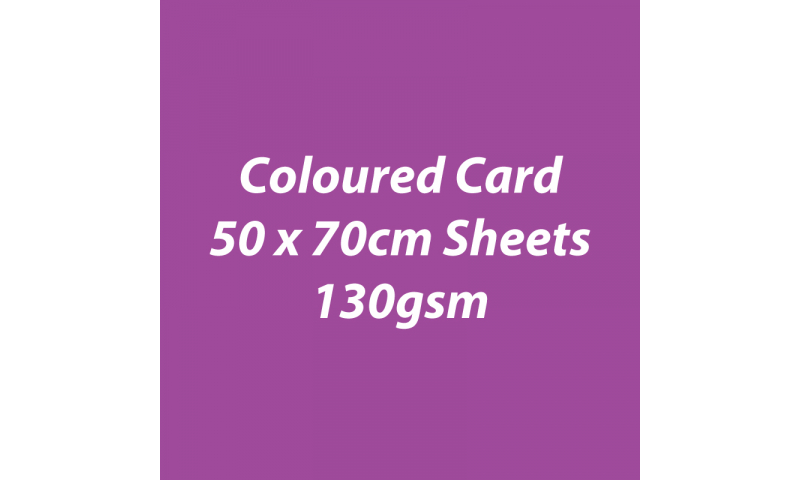 Heyda 100% Recycled Coloured Card  50x70mm 130 gsm barcoded 30 sh-Berry