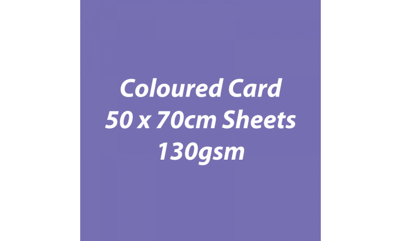 Heyda 100% Recycled Coloured Card  50x70mm 130 gsm barcoded 30 sh-Lilac
