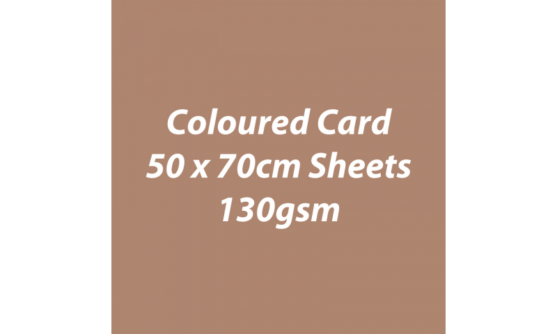 Heyda 100% Recycled Coloured Card  50x70mm 130 gsm barcoded 30 sh-Toffee