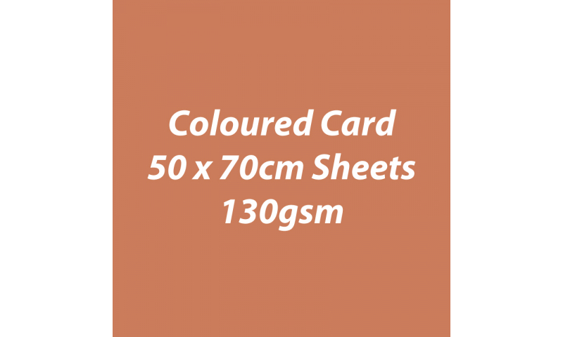Heyda 100% Recycled Coloured Card  50x70mm 130 gsm barcoded 30 sh-Terracotta