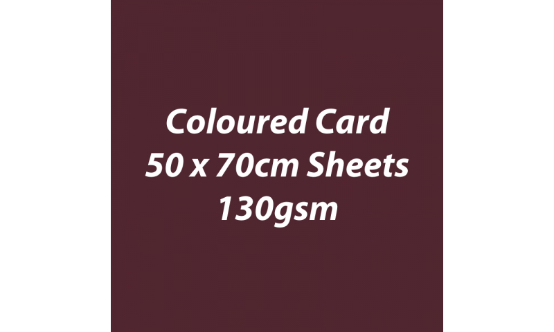 Heyda 100% Recycled Coloured Card  50x70mm 130 gsm barcoded 30 sh-Chocolate