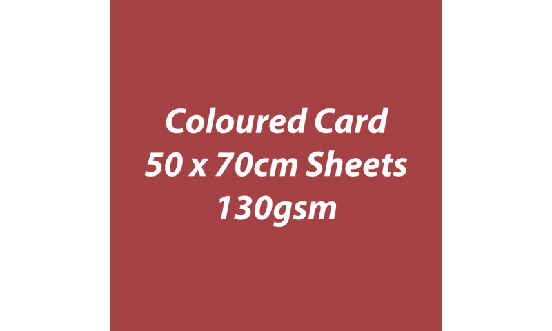 Heyda 100% Recycled Coloured Card  50x70mm 130 gsm barcoded 30 sh - Rust