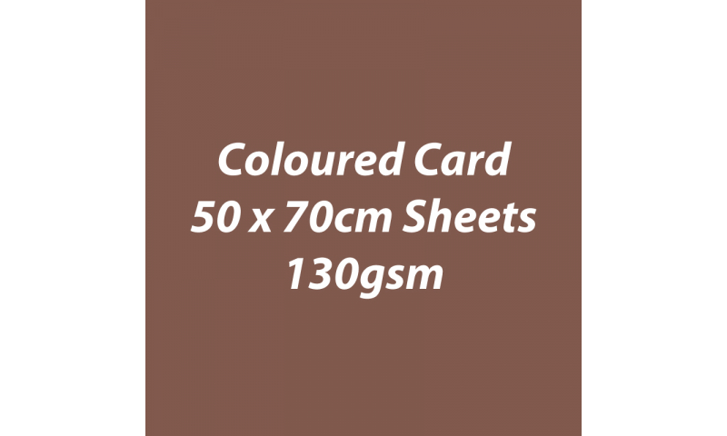 Heyda 100% Recycled Coloured Card  50x70mm 130 gsm barcoded 30 sh-Brown