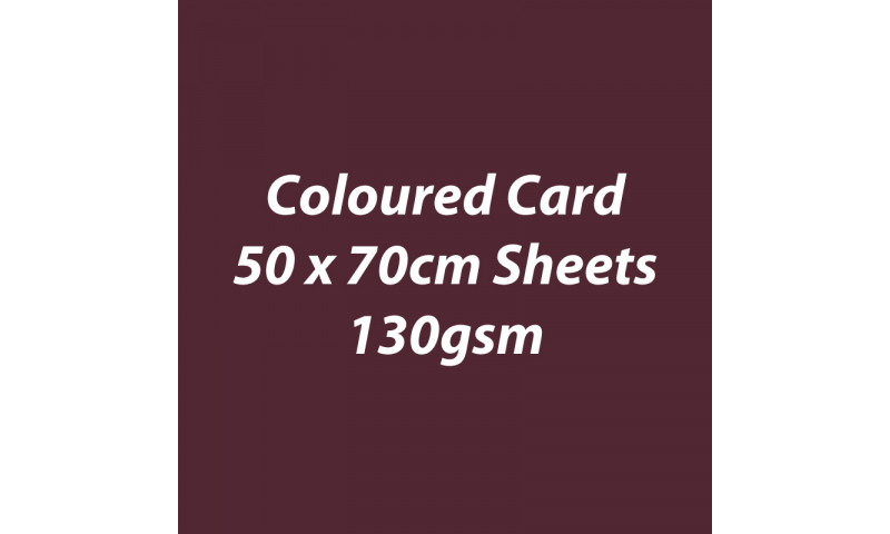 Heyda 100% Recycled Coloured Card  50x70mm 130 gsm barcoded 30 sh-Coffee