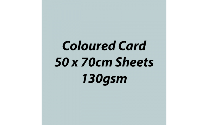 Heyda 100% Recycled Coloured Card  50x70mm 130 gsm barcoded 30 sh-Light Grey