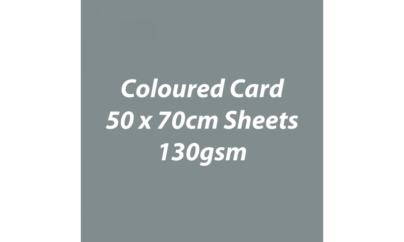 Heyda 100% Recycled Coloured Card  50x70mm 130 gsm barcoded 30 sh-Grey