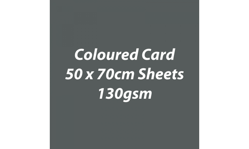 Heyda 100% Recycled Coloured Card  50x70mm 130 gsm barcoded 30 sh-Charcoal