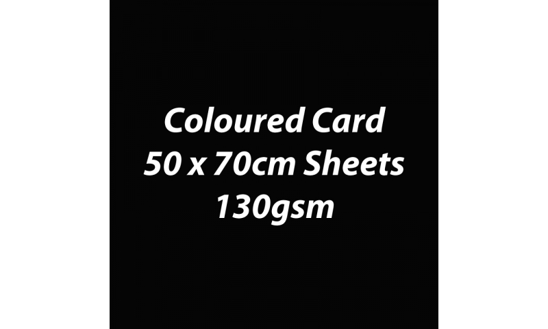 Heyda 100% Recycled Coloured Card  50x70mm 130 gsm barcoded 30 sheets-Black