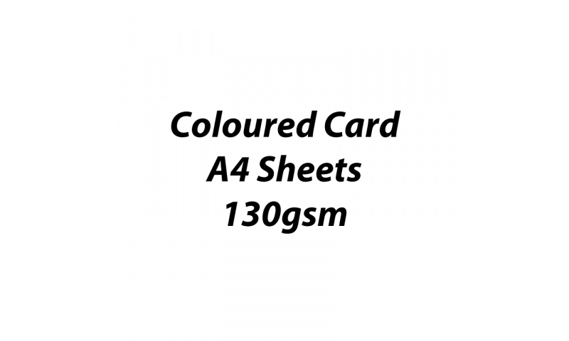 Heyda 100% Recycled Coloured Card  A4 130 gsm barcoded 100 sheets-White