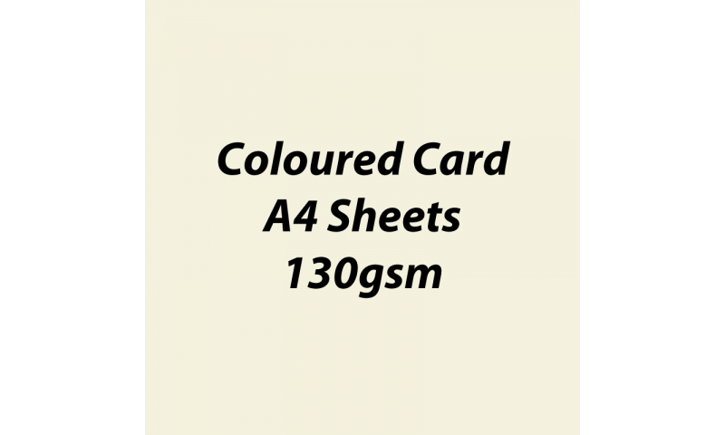 Heyda 100% Recycled Coloured Card  A4 130 gsm barcoded 100 sheets-Cream